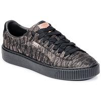 Încăltăminte Femei Pantofi sport Casual Puma Basket Platform Bi Color Negru / Roz