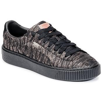 Pantofi Femei Pantofi sport Casual Puma Basket Platform Bi Color Negru / Roz
