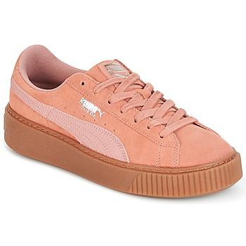 Pantofi Femei Pantofi sport Casual Puma Suede Platform Core Gum Roz