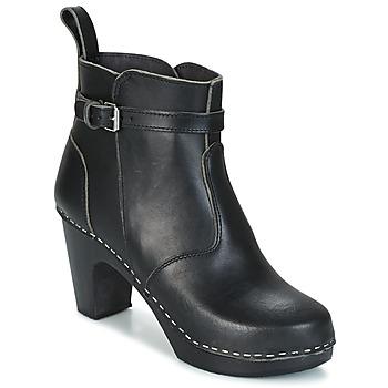 Pantofi Femei Botine Swedish hasbeens HIGH HEELED JODHPUR Negru