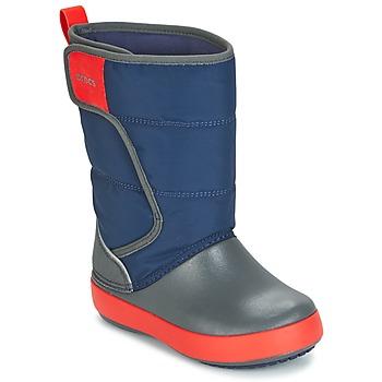 Pantofi Copii Cizme de zapadă Crocs LODGEPOINT SNOW BOOT K Bleumarin