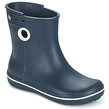 Pantofi Femei Cizme de ploaie Crocs JAUNT SHORTY BOOTS Bleumarin