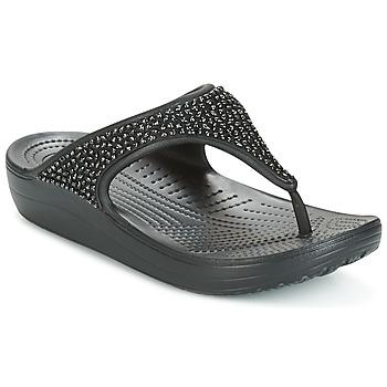 Pantofi Femei  Flip-Flops Crocs SLOANE Negru