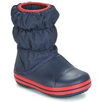 Pantofi Băieți Cizme de zapadă Crocs WINTER PUFF BOOT KIDS Bleumarin