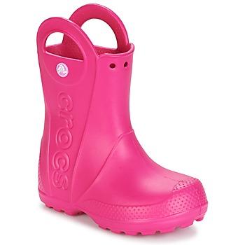 Pantofi Fete Cizme de ploaie Crocs HANDLE IT RAIN BOOT Roz