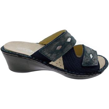 Pantofi Femei Papuci de vară Calzaturificio Loren LOM2653bl blu