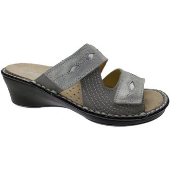 Pantofi Femei Papuci de vară Calzaturificio Loren LOM2653gr grigio