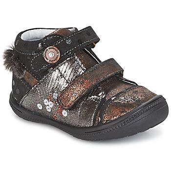 Pantofi Fete Ghete Catimini ROSSIGNOL Negru / Alamă