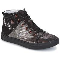 Pantofi Fete Pantofi sport stil gheata Catimini ROUSSEROLLE Negru / Argintiu