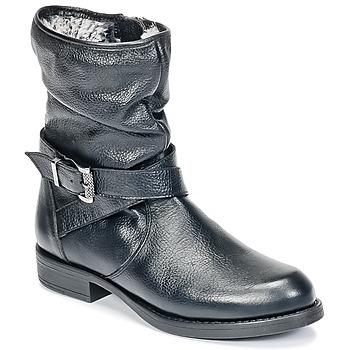 Pantofi Fete Ghete Unisa GADIN Negru