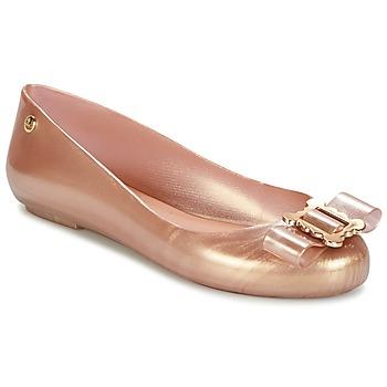 Pantofi Femei Balerin și Balerini cu curea Melissa VW SPACE LOVE 18 ROSE GOLD BUCKLE Roz / Gold