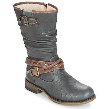 Pantofi Femei Cizme casual Mustang ISALBA Gri