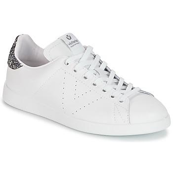 Pantofi Femei Pantofi sport Casual Victoria DEPORTIVO BASKET PIEL Alb / Gri