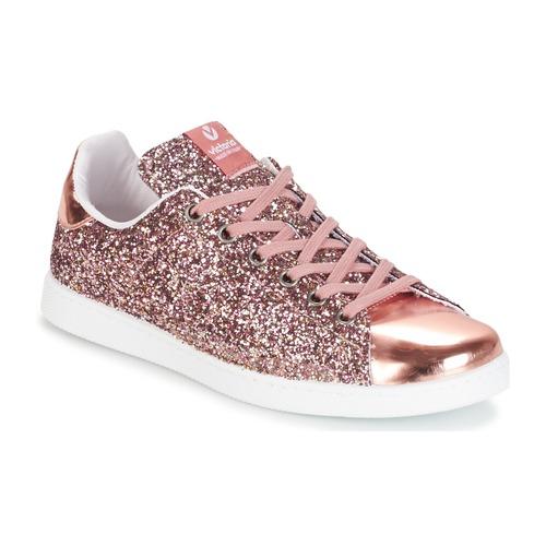 Pantofi Femei Pantofi sport Casual Victoria DEPORTIVO BASKET GLITTER Roz