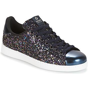 Încăltăminte Femei Pantofi sport Casual Victoria DEPORTIVO BASKET GLITTER Bleumarin