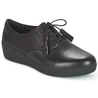Încăltăminte Femei Pantofi Derby FitFlop CLASSIC TASSEL SUPEROXFORD Negru / șarpe