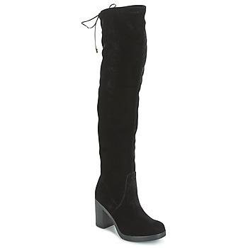 Încăltăminte Femei Cizme lungi peste genunchi Tosca Blu ST MORITZ Negru