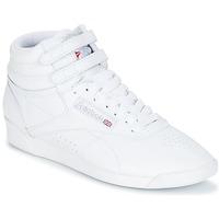 Pantofi Femei Pantofi sport Casual Reebok Classic FREESTYLE HI Alb / Argintiu