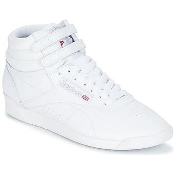 Pantofi Femei Pantofi sport stil gheata Reebok Classic FREESTYLE HI Alb / Argintiu