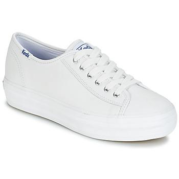 Încăltăminte Femei Pantofi sport Casual Keds TRIPLE KICK CORE LEATHER Alb