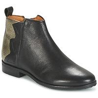 Pantofi Fete Ghete Adolie ODEON WILD Negru / Platyna