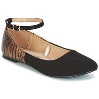 Pantofi Femei Balerin și Balerini cu curea Moony Mood HALIMY Negru