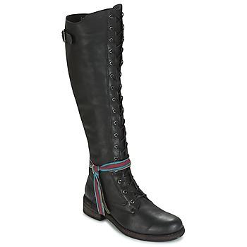 Pantofi Femei Cizme lungi peste genunchi Felmini HARDY Negru
