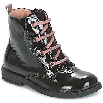 Pantofi Fete Ghete Citrouille et Compagnie HEMANU Negru / Roz