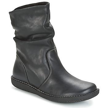 Pantofi Femei Ghete Casual Attitude FILL Negru