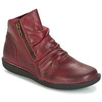 Pantofi Femei Ghete Casual Attitude HERMINA Roșu-bordeaux