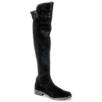 Pantofi Femei Cizme lungi peste genunchi Buffalo NUPAN Negru