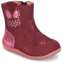 Pantofi Fete Ghete Kickers BRETZELLE Roz / Culoare închisă