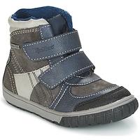 Încăltăminte Băieți Cizme de zapadă Kickers SITROUILLE Gri / Culoare închisă / Albastru