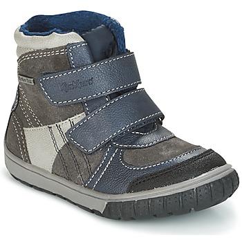 Pantofi Băieți Cizme de zapadă Kickers SITROUILLE Gri / Culoare închisă / Albastru