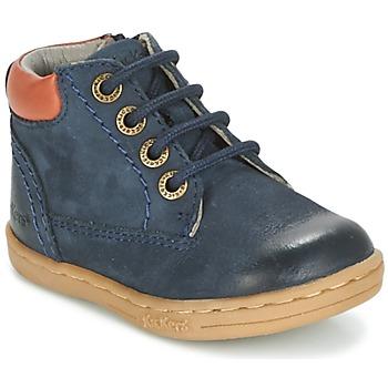 Pantofi Băieți Ghete Kickers TACKLAND Bleumarin