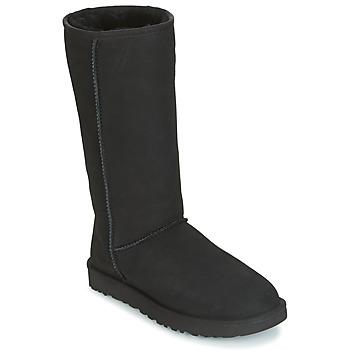 Pantofi Femei Cizme casual UGG CLASSIC TALL II Negru