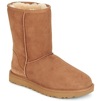 Pantofi Femei Ghete UGG CLASSIC SHORT II Camel