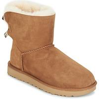 Pantofi Femei Ghete UGG MINI BAILEY BOW II Camel