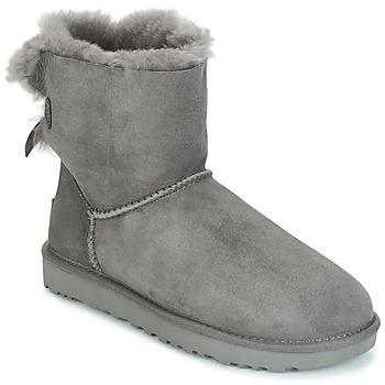 Pantofi Femei Ghete UGG MINI BAILEY BOW II Gri