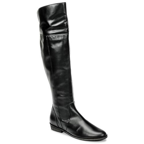 Pantofi Femei Cizme lungi peste genunchi So Size HOLA Negru