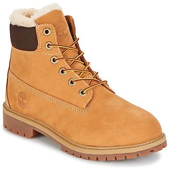 Pantofi Copii Ghete Timberland 6 IN PRMWPSHEARLING LINED Maro