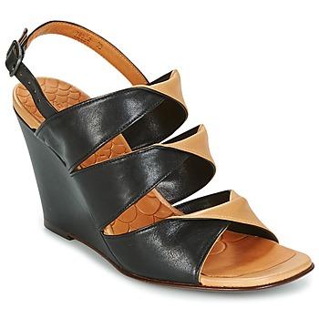 Încăltăminte Femei Sandale și Sandale cu talpă  joasă Chie Mihara CRUSH Negru