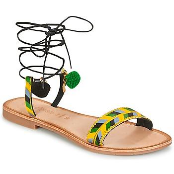 Pantofi Femei Sandale  Lola Espeleta EDWINA Verde / Galben / Negru