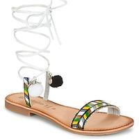 Pantofi Femei Sandale  Lola Espeleta EDWINA Verde / Argintiu