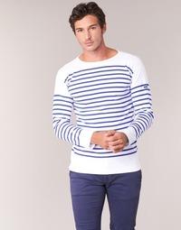 Îmbracaminte Bărbați Tricouri cu mânecă lungă  Armor Lux AMIRAL Alb / Albastru