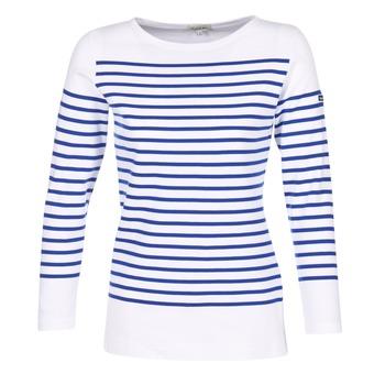 Îmbracaminte Femei Tricouri cu mânecă lungă  Armor Lux AMIRAL Alb / Albastru
