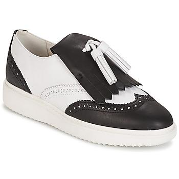 Pantofi Femei Mocasini Geox D THYMAR C - NAPPA Alb / Negru