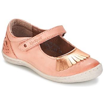 Pantofi Fete Balerin și Balerini cu curea Kickers CALYPSO Corai