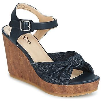 Pantofi Femei Sandale  S.Oliver  Denim / Comb