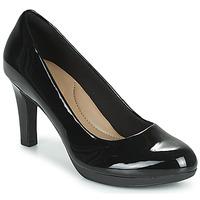 Pantofi Femei Pantofi cu toc Clarks ADRIEL VIOLA Black / Pat